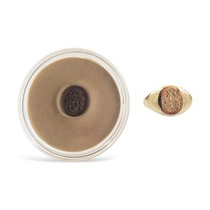 Signet Ring Wax Seal Impression