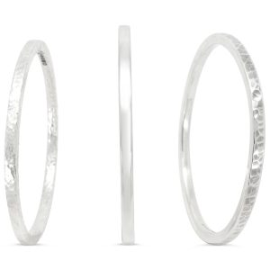 square section bangle solid silver