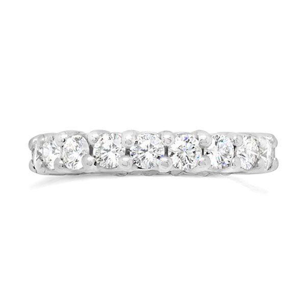 claw eternity ring in platinum with 2cts round diamonds