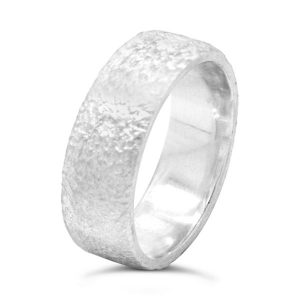 8mm Flat Reticulated Ring