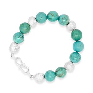 Turquoise Bracelet with silver beads