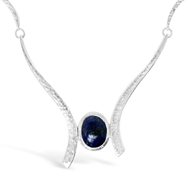 Lapis Forged Necklace