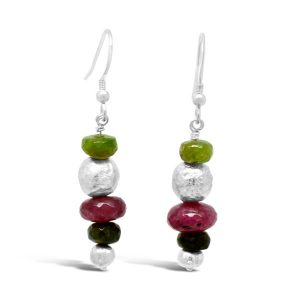 tourmaline and silver earrings random