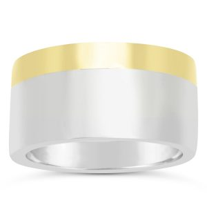Two Colour Gold Wedding Ring