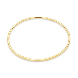 3mm Round Gold Bangle