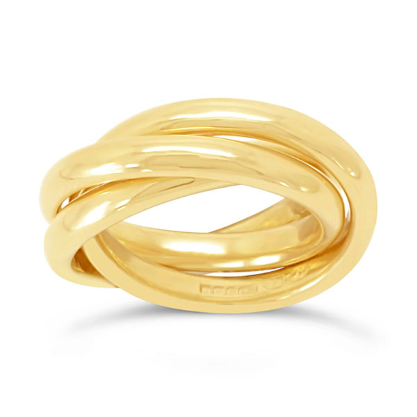 russian wedding ring in 18ct yellow gold - Russian Wedding Ring