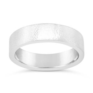 matt finish wedding band 6mm wide flat comfort fit style
