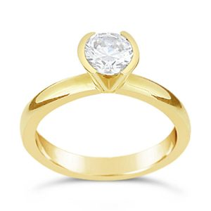 unusual gold engagement ring