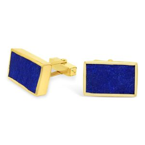 Gold Lapis Clip on Cufflinks