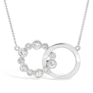 interlocking Circles Diamond Pendant Small