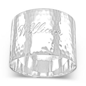 Napkin Ring with Engraved Name Script