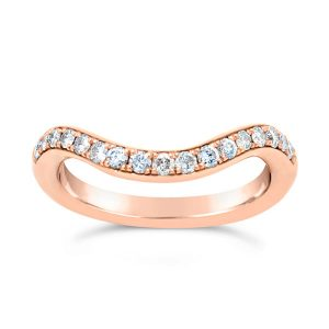 Rose Gold Eternity Ring Curve To Fit Pave Set Eternity Ring