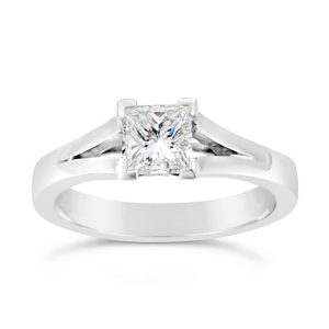 Square Princess Cut Diamond Engagement Rings