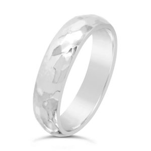 Hammered Platinum Wedding Ring