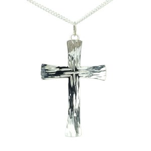 Forged Silver Cross