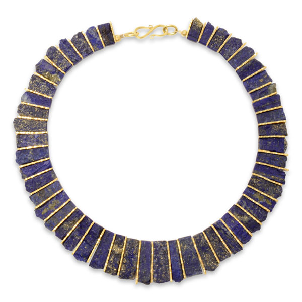 gold lapis with grande lazuli parker and charm chain rik necklace lotus products