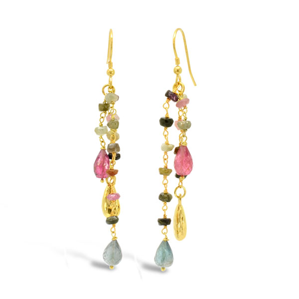 Christmas Jewellery gold tassle earrings