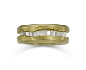 unusual gold eternity ring
