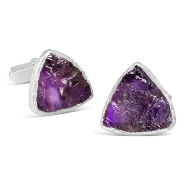 Amethyst Cufflinks Trillion