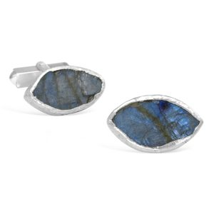 Labradorite cufflinks rough cut