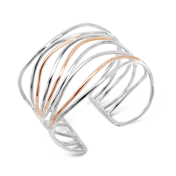 Silver Rose Gold Bangle