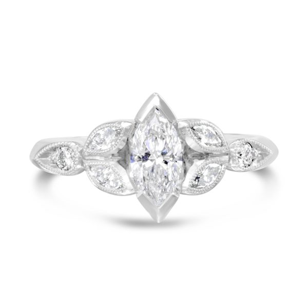 Vintage Marquise Diamond Engagement Ring