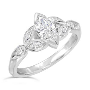 Marquise Diamond Engagement Rings