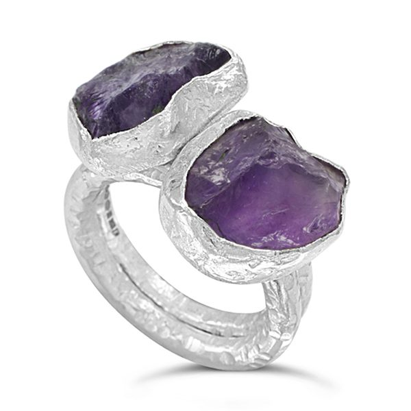 amethyst stacking rings