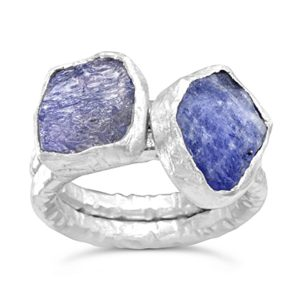 tanzanite stacking rings