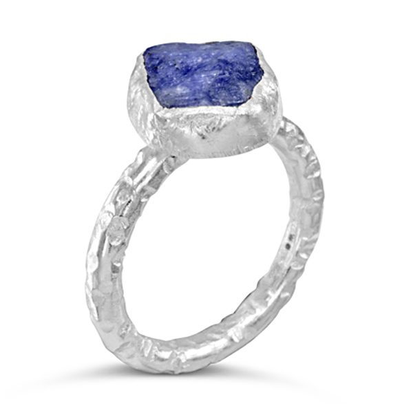 Tanzanite stacking ring