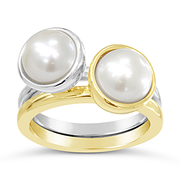 Large Pearl Stacking Rings