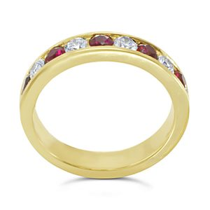 Gold Ruby eternity ring
