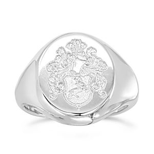 white gold signet ring