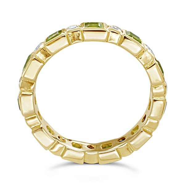 peridot diamond eternity ring