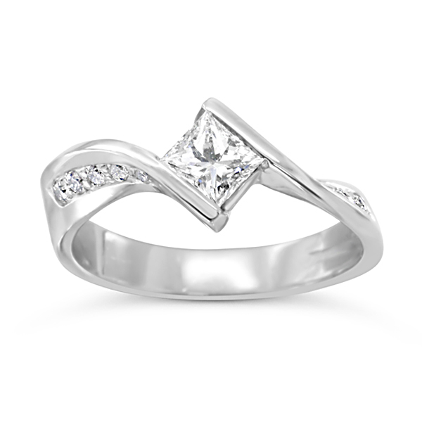 set cut ring engagement channel wall rings princess