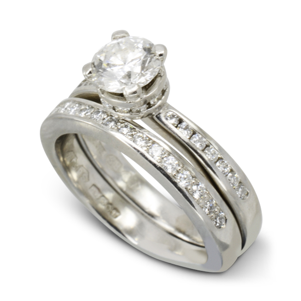 Diamond Engagement Ring matching bespoke wedding ring