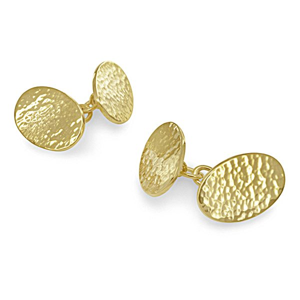hammered gold cufflinks