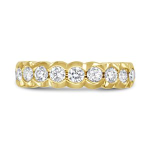 Gold Eternity Ring Scalloped edge