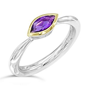 marquise cut amethyst ring