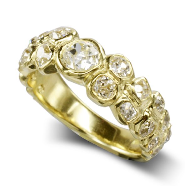 Bespoke Old cut bubbles eternity ring