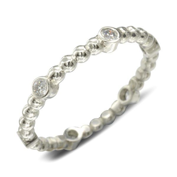 Beaded Diamond Eternity Ring