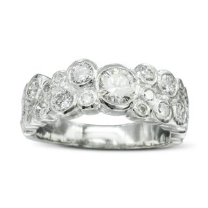 Bubbles Contemporary Diamond Eternity Ring
