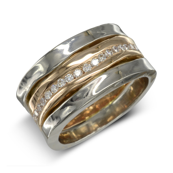 Hammered Eternity Ring