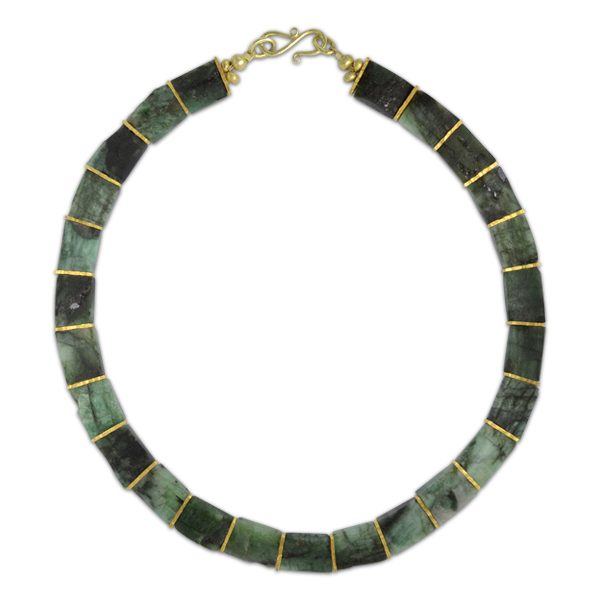Emerald Collar necklace