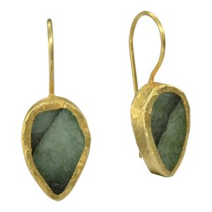 Emerald Drop Earrings Pear