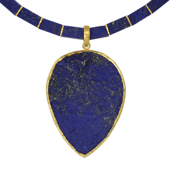 on irregular lapis amazon alloy lazuli necklace metal quot com natural dp genuine pendant