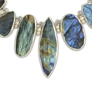 rough cut labradorite necklace
