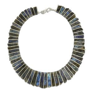 blue labradorite tab necklace