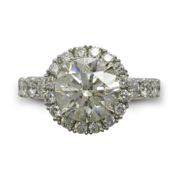 two carat engagement ring