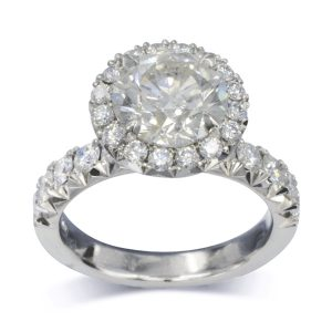 Two Carat Diamond Cluster Ring